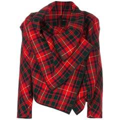 Fall 1999 Comme des Garcons asymmetric tartan jacket