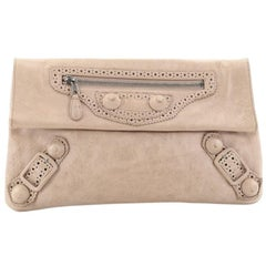 Balenciaga Envelope Clutch Covered Giant Brogues Leather