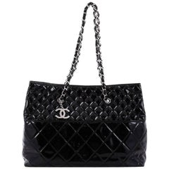 Chanel In The Business Tote Quilted Patent Vinyl Large