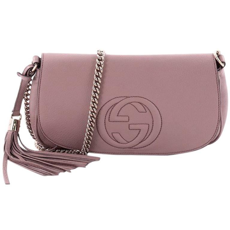 4d68ce89c55e0e Gucci Soho Chain Crossbody Bag Leather Medium at 1stdibs