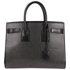 Saint Laurent Sac de Jour Handbag Studded Leather Small