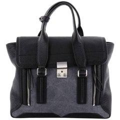 3.1 Phillip Lim Pashli Satchel Leather with Denim Medium