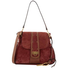 Chloe Lexa Crossbody Bag Suede Small