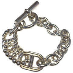 HERMES 'Parade' Chain Bracelet in Sterling Silver
