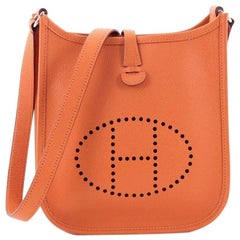 Hermes Long Strap Evelyne Crossbody Bag Epsom TPM