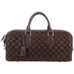 Louis Vuitton Speedy Cube Bag Damier Cubic Leather and Velvet East West