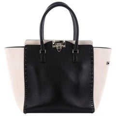 Valentino Rockstud Tote Rigid Leather Medium