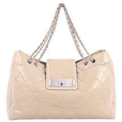 Chanel Mademoiselle Lock East West Tote Quilted Leather Large