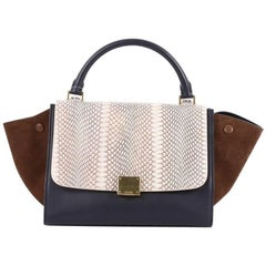 Celine Trapeze Handbag Python Small