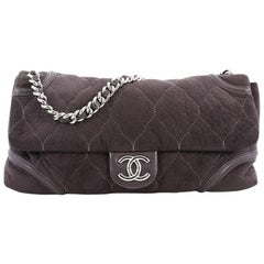 Chanel Rodeo Drive Flap Bag Quilted Fabric Large