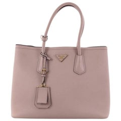 Prada Cuir Double Tote Saffiano Leather Medium