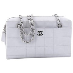 Chanel Chocolate Bar CC Camera Bag Quilted Lambskin Medium