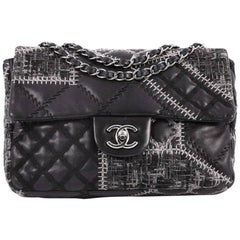 Chanel Classic Single Flap Bag Patchwork Tweed and Lambskin Medium