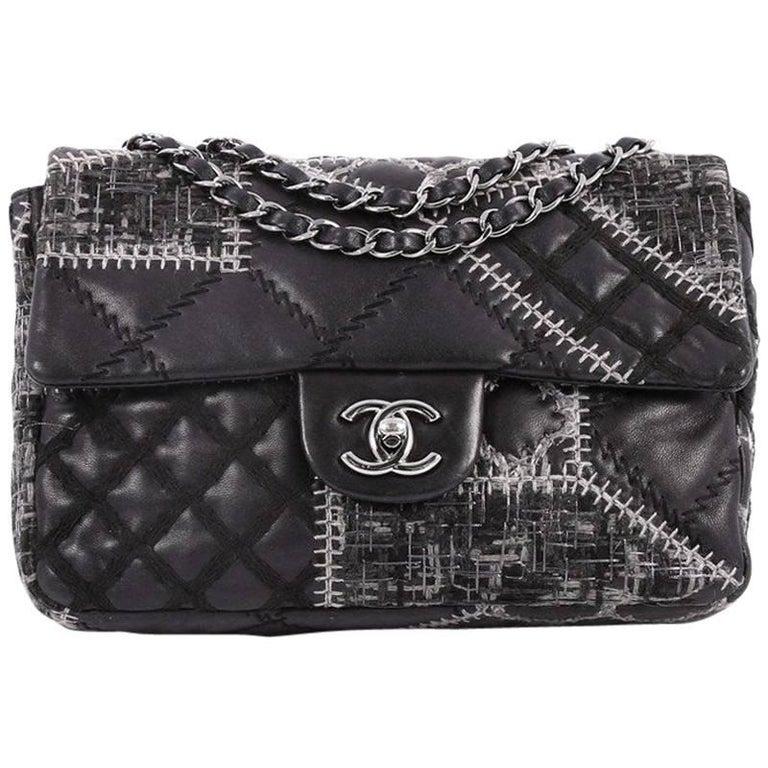 1420da2cd519 Chanel Classic Single Flap Bag Patchwork Tweed and Lambskin Medium ...