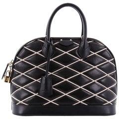 Louis Vuitton Alma Handbag Malletage Leather PM
