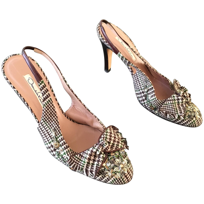 High Sling De Shoes La Back Renta Oscar Heel 3TKc1lFJ