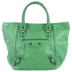 Balenciaga Sunday Tote Classic Studs Leather Small