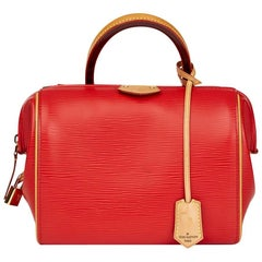 Louis Vuitton Coquelicot Epi Leather & Vachetta Leather Doc BB