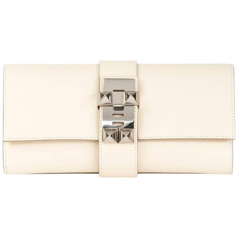 Hermes Craie Swift Leather Medor 23 Clutch