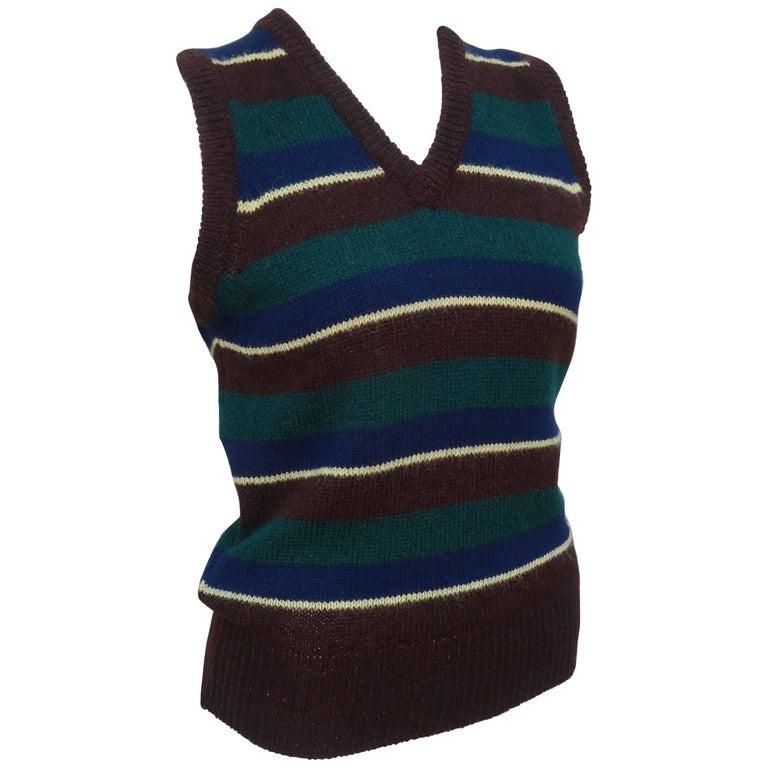 Ralph Lauren Wool Striped Sweater Vest, 1970s