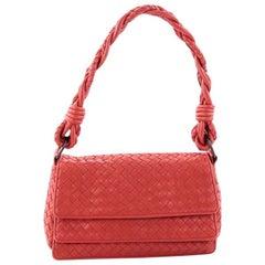 Bottega Veneta Braided Double Flap Bag Intrecciato Nappa Small
