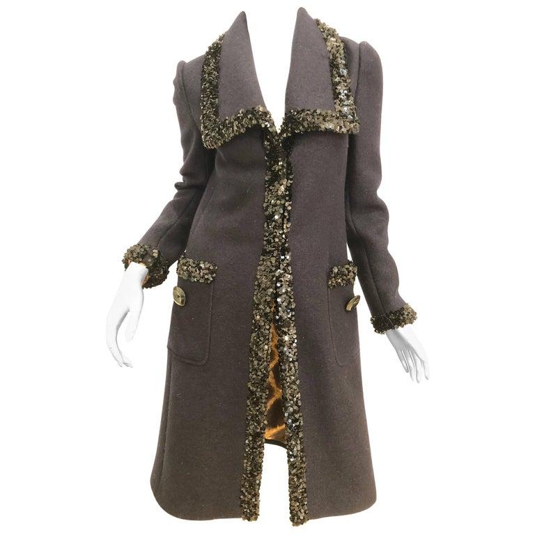 Dolce & Gabbana Sequin Trim Coat