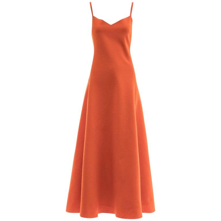 Ralph Lauren Collection Wool Felt Evening Dress, Fall 1999 For Sale