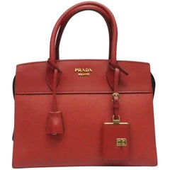 Prada Red Saffiano City Handbag - NEW
