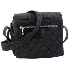 Chanel Coco Cocoon Messenger Bag Quilted Denim Medium