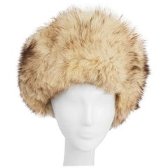 1960s Cream Fox Fur Hat