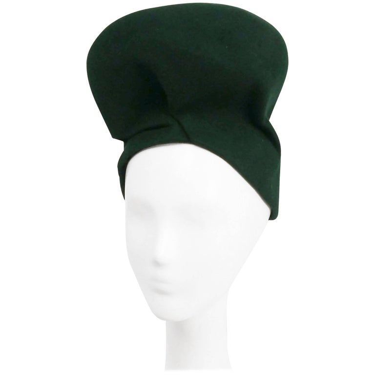1940s Emerald Green Structured Turban