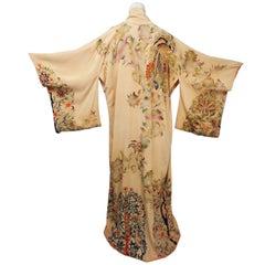 1940s Hand Painted Silk Kimono