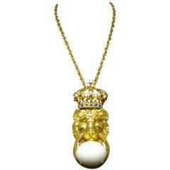 Vintage Pauline Rader Lion Necklace