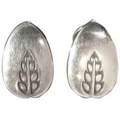 Vintage Sterling Denmark Georg Jensen Clip Earrings