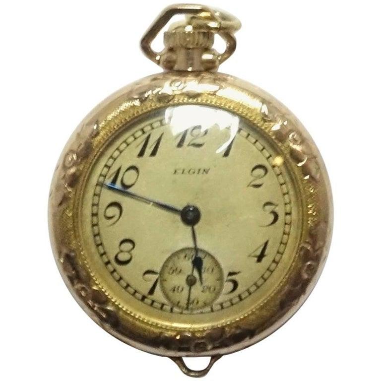 Vintage Gold-Filled Elgin Watch Pendant As Is