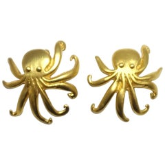 Kenneth Jay Lane Octopus Earrings