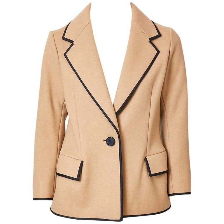 Norman Norell Wool Blazer with Braided Trim