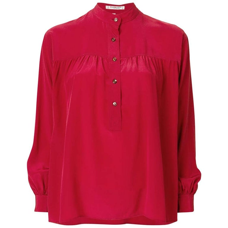 Red Silk Yves Saint Laurent Blouse