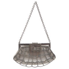 Fendi Silk Satin Crystal Evening Bag