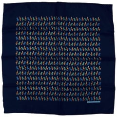 Hermes Vintage Whimsy Hobby Horse and Cart Pocket Square