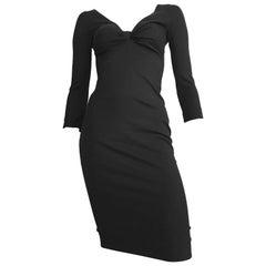 Dsquared2 Black Form-Fitting Dress, Size 2