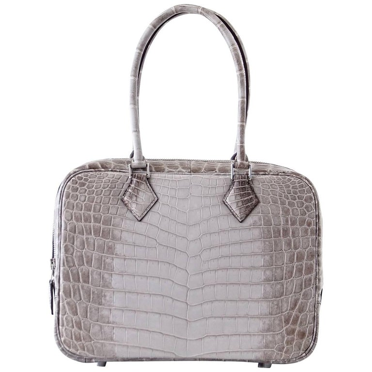 Hermes Plume 28 Gris Cendre Himalaya Very Rare For Sale. Guaranteed  authentic Hermes Plume 28 Bag ... 17d790fa73d63