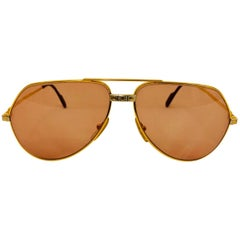 Cartier Vendome Santos Vintage Satin Sunglasses 62 14