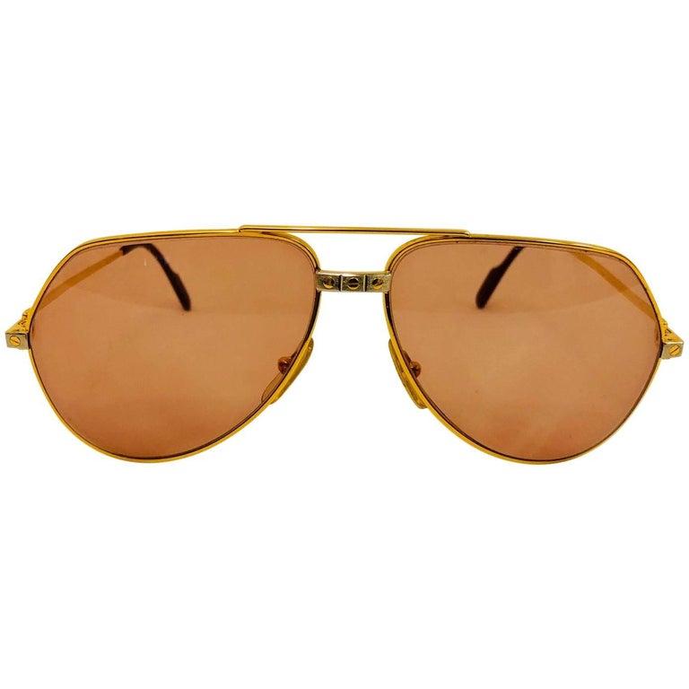 6776fb6b995c Cartier Vendome Santos Vintage Satin Sunglasses 62 14 For Sale at ...