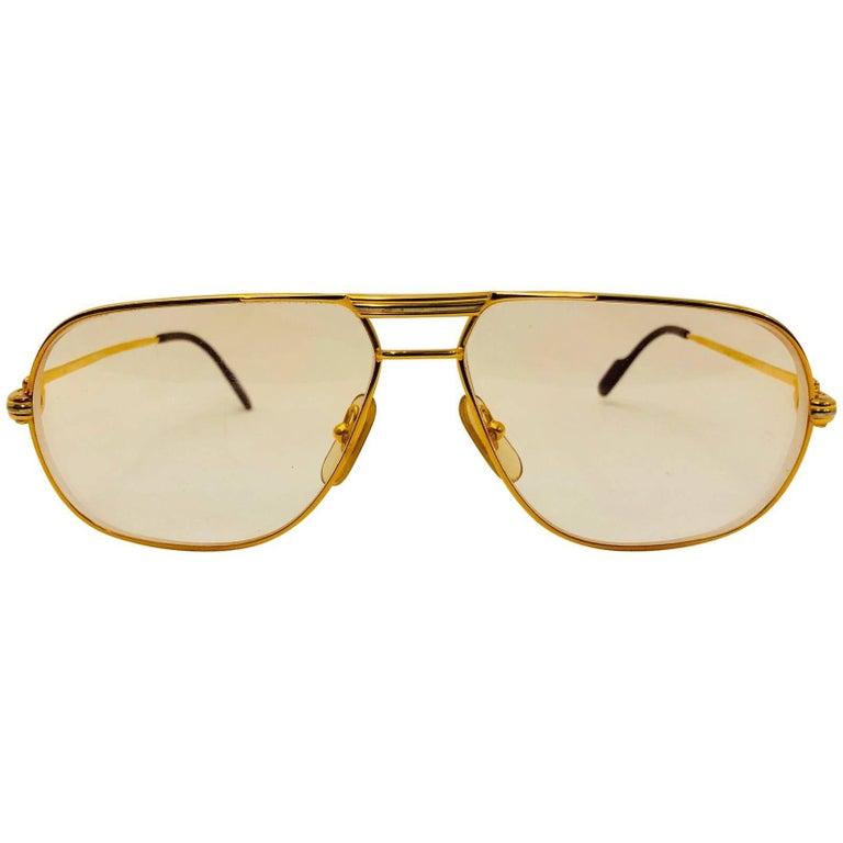 Cartier Vintage Vendome Glasses 59 14, 1980s  For Sale