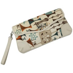 Dorothy Barrick Atomic Age Wristlet Clutch Handbag