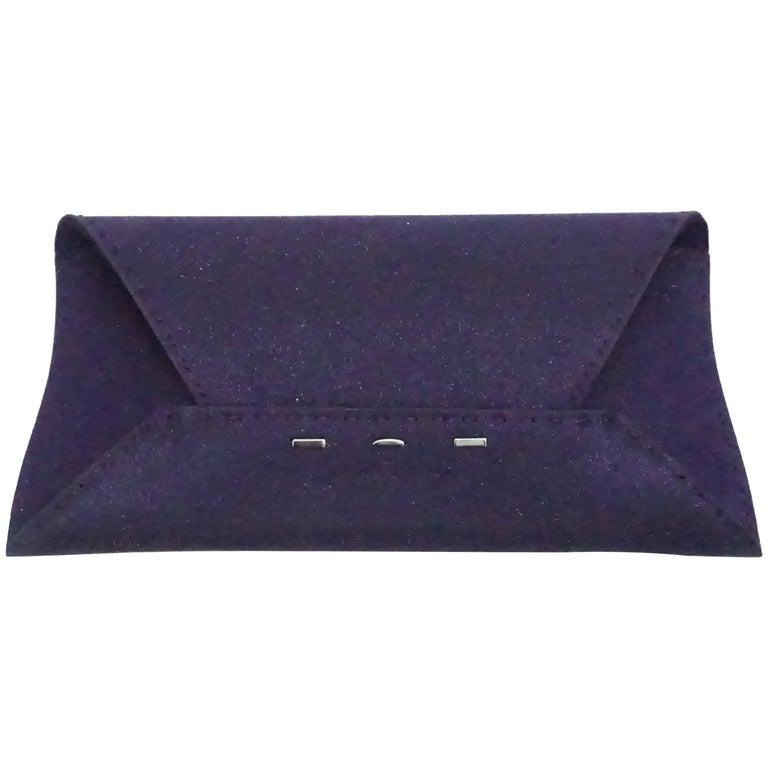 VBH Purple Sparkle Manila Clutch For Sale
