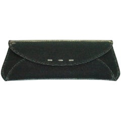 VBH Dark Green Iridescent Manila Clutch