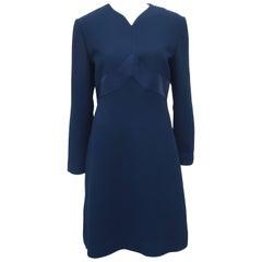 Classic 1980's Carolina Herrera Day to Evening Blue Dress