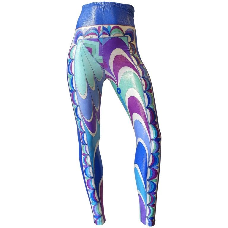 Emilio Pucci Iridescent Swirl Print Leggings